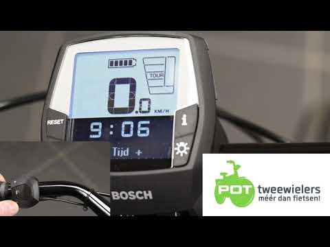 op tijd zetten Bosch Intuvia display