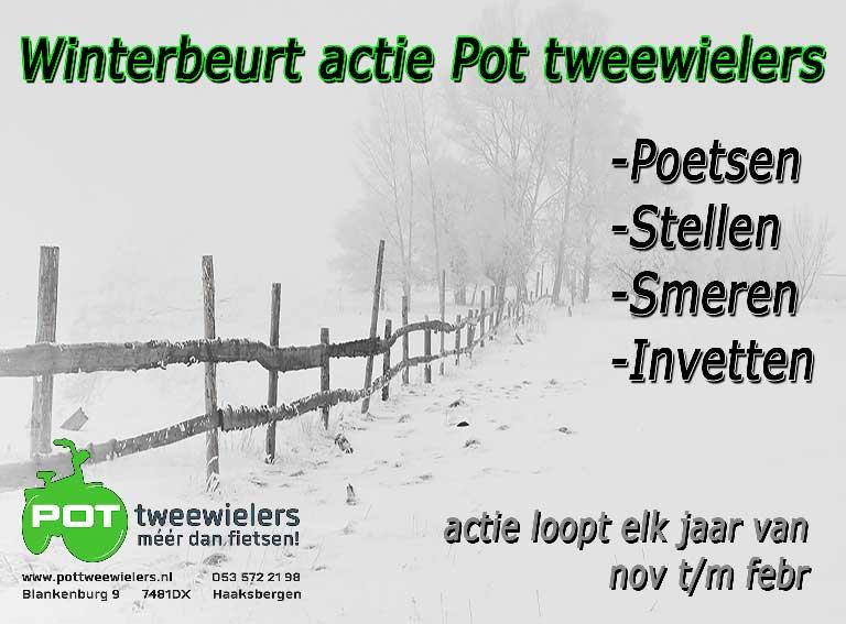 Winterbeurt Pot tweewielers