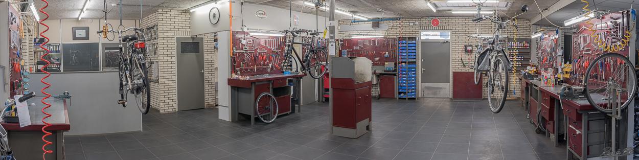Pot tweewielers, werkplaats, Haaksbergen