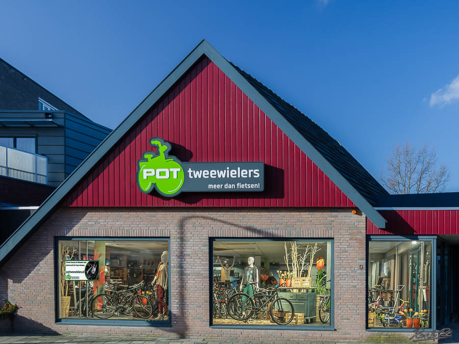 Winkel pot tweewielers