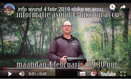 Ebike en accu informatie avond 4 februari 2019