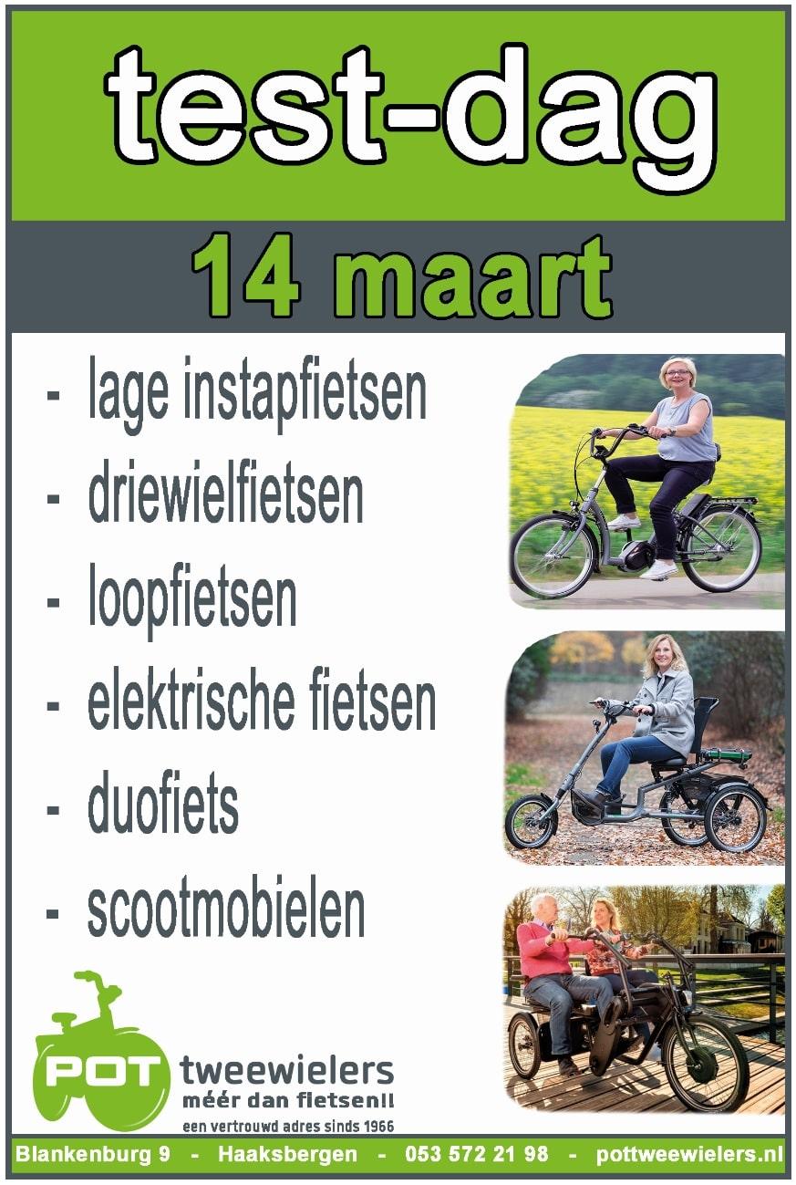 Test dag Pot tweewielers 14 maart